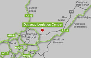 Daganzo Logistics Centre Location available warehouse space