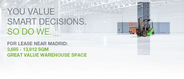 Daganzo Logistics Centre available warehouse space